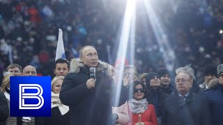 Putin and Russian Olympic Team Sing National Anthem Together