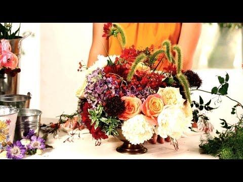 How to Arrange Flowers in Floral Foam | Wedding Flowers