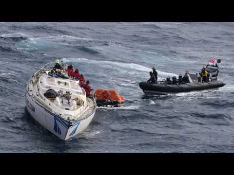 Dramatic rescue while I was sailing across the Atlantic Feb 2017
