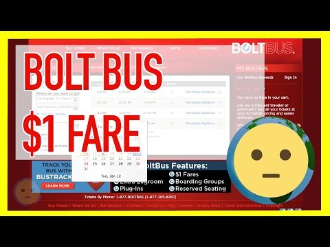 Bolt Bus Schedule $1 Tickets on BoltBus.Com on West Coast Routes w/ Wifi + Leather Seats | MySuLonE