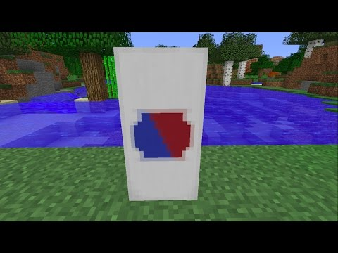 How to make the National Flag of South Korea [KOR]//Minecraft
