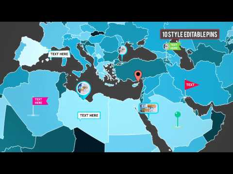 Ultimate Infographics World Map Pro Kit-after effects templates