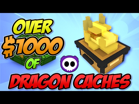 UNBOXING OVER $1000 OF GREATER DRAGON CACHES IN TROVE - Worth Buying?