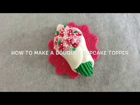 How to make a flower bouquet cupcake topper