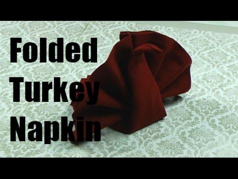 Folded Turkey Napkin