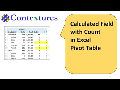 Create Excel Pivot Table Calculated Field With a Count