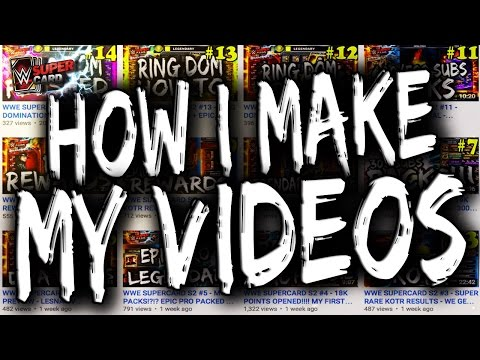 HOW I MAKE MY VIDEOS!!!! - HOW TO RECORD SUPERCARD + iPhone as well as Editing and Thumbnails