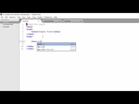 PHP Form Processing Part 1