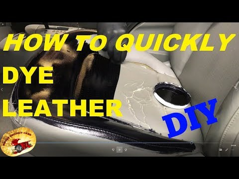 How to DYE or STAIN Leather To NEW AGAIN!