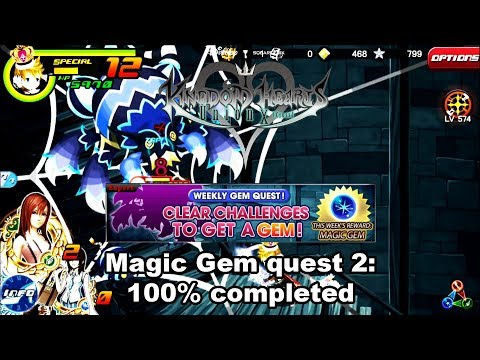 Kingdom Hearts Union X: Magic Gem quest 2 100% completed