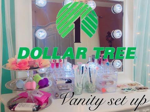 Dollar tree vanity setup / vanity on a budget!