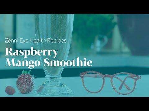 Eye Health Recipes: Raspberry Mango Smoothie