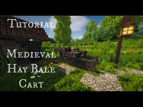 Minecraft Tutorial - Medieval Hay Bale Cart