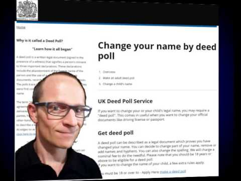 Change Your Name How does a Deed Poll work?