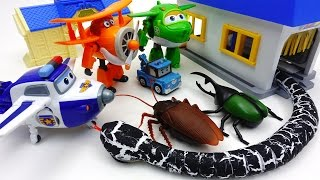 Go Go Super Wings, Poli Town is Under Attack by Monster Bugs