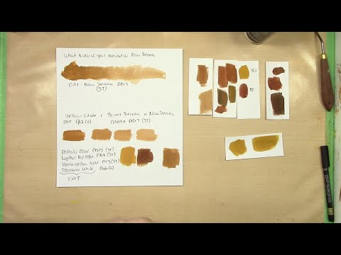 How to Mix Raw Sienna