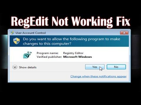 RegEdit Not Working Fix