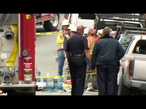 RAW: Emergency Responders At The Scene Of Oakland Construction Site Collapse