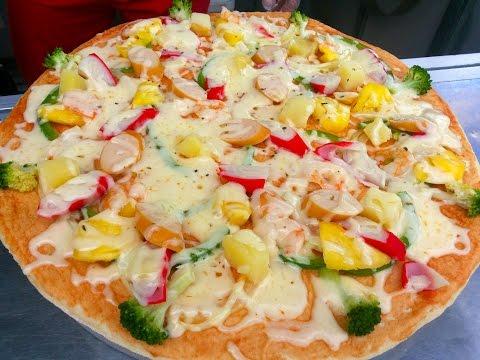 Seafood Pizza - Street Seafood Pizza Baking In Ta Khmao - Youtube