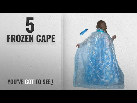 Top 10 Frozen Cape [2018]: Frozen Inspired Ice Princess Shimmering Snowflake Cape with Let It Go
