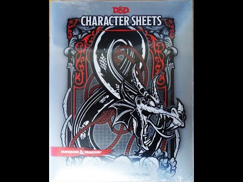 D&D Character Sheets Opening and Review