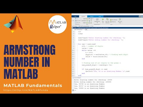 ARMSTRONG NUMBER | MATLAB Tutorial