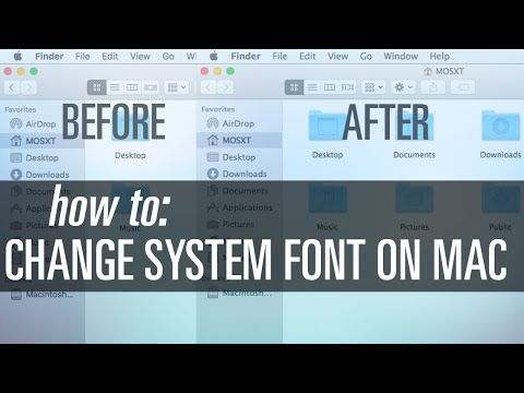 How To Change Default System Font in El Capitan