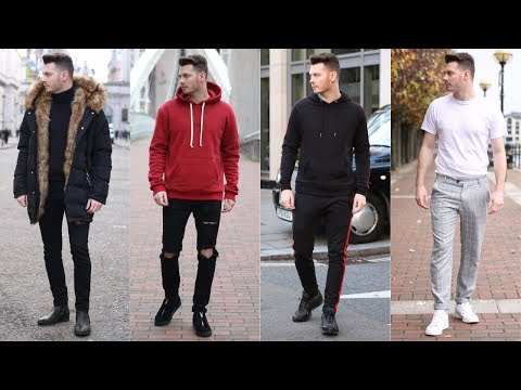 Mens Streetwear Lookbook 2017 - Top 4 Stylish Outfits For Winter