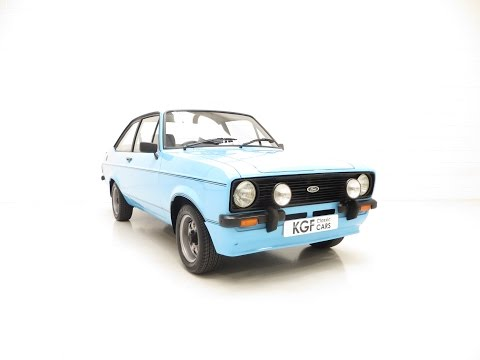 A stunning Ford Escort Mk2 1600 Sport in show condition - SOLD!