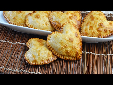 Heart-Shaped Tuna Empanadas - Easy Baked Tuna Empanadas Recipe