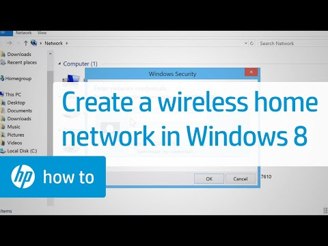 Creating a Wireless Home Network - Windows 8