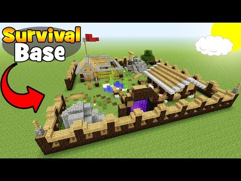 Minecraft Tutorial: How To Make A Big Survival Base