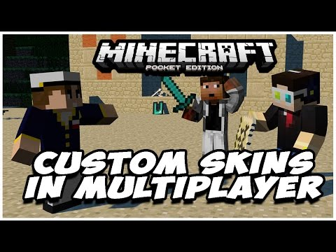 How To See Custom Skins ONLINE in Minecraft Pocket Edition [0.10.4+]