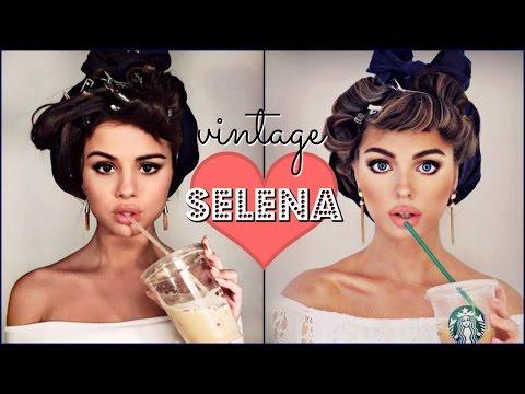 Selena Gomez Makeup Tutorial & Bouncy Curls   Vintage🎀