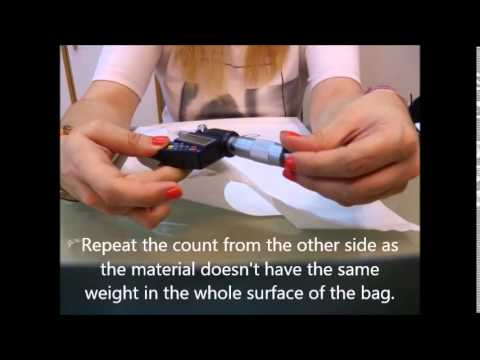 How to calculate the thickness of plastic bags