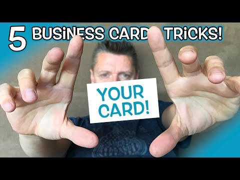 5 Ways to Give out your Business Card LIKE A BADASS!