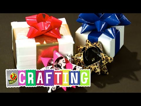 How to Craft a Duct Tape Christmas Gift Bow