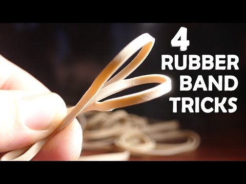 4 Incredible Tricks With Rubber Bands! - Super Easy, Very Impressive!!!