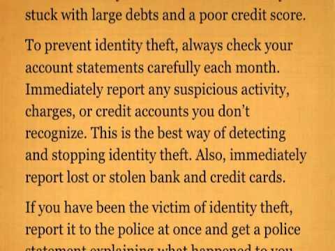 Credit Score Repair & Identity Theft