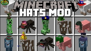Minecraft HATS MOD / PUT HATS ON ANY MOB AND FIGHT THEM!! Minecraft