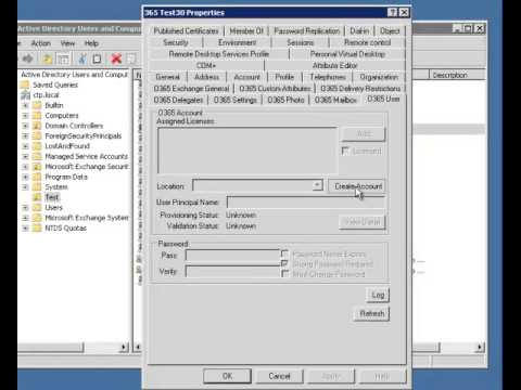 Active Directory Account Creation with the 365 Command Active Directory Extensions