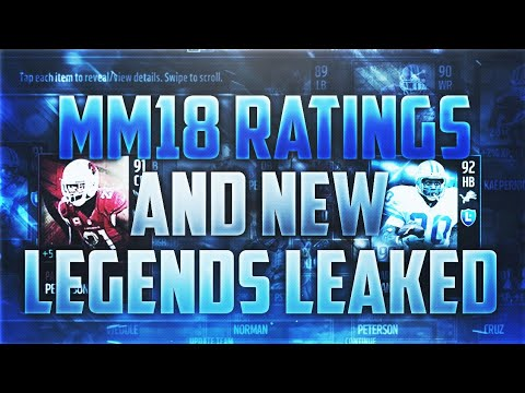 MADDEN MOBILE 18 RATINGS AND NEW LEGENDS LEAKED + INSANE NEW CARD ART POSSIBILITIES!!