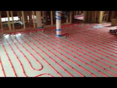PEX layout and install on wood sub-floor