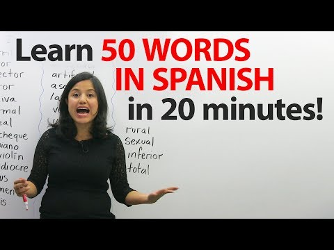 50+ words that are the same in English & Spanish