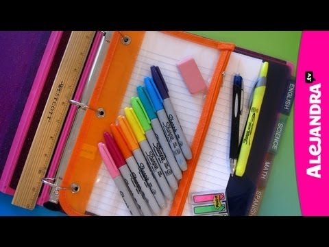 Back to School Organization: How to Organize Your Binder & Supplies