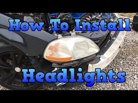Honda Civic 1996 - 2000 - How To Install Headlights