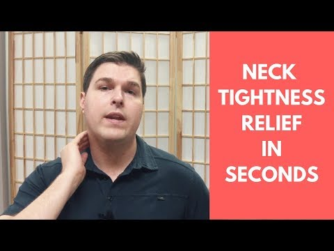 How to Get Rid of Neck Tightness and Muscle Spasms in Seconds