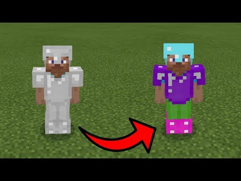 How To Dye Armor in Minecraft Tutorial (Pocket Edition, Xbox, Addon)