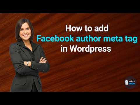 How to add Facebook author meta tag in Wordpress