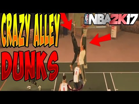 NBA 2K17 HOW TO GET CRAZY ALLEY OOP CONTACT DUNKS ALL ARCHETYPES|DUNK ON ANYBODY WITH ALLEY OOP PASS